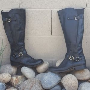 Naturalizer pebble leather comfort boots buckles